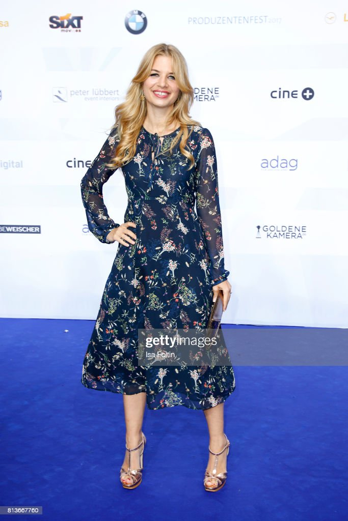 German actress Susan Sideropoulos attends the summer party 2017 (Produzentenfest) of the German Producers Alliance on July 12, 2017 in Berlin, Germany.