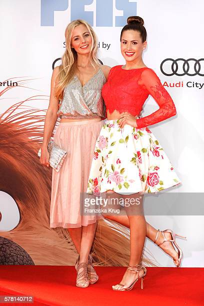 German actress Syra Feiser and Angelina Heger attend the premiere of the film 'PETS' at CineStar on July 20 2016 in Berlin Germany