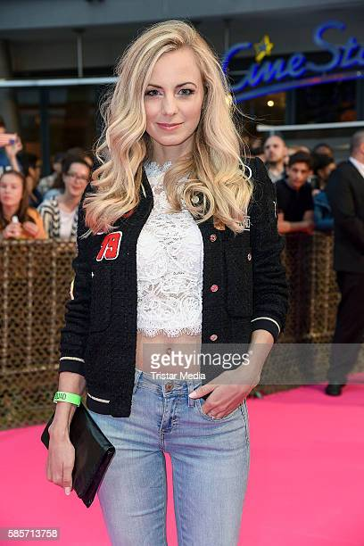 German actress Syra Feiser attends the Suicide Squad Live Event at CineStar on August 3 2016 in Berlin Germany
