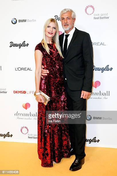 German actress Tanja Buelter and her husband Nenad Drobnjak attend the Dreamball 2016 at Ritz Carlton on September 29 2016 in Berlin Germany