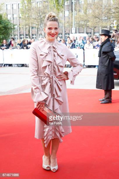 German actress Tanja Wedhorn during the Lola German Film Award red carpet arrivals at Messe Berlin on April 28 2017 in Berlin Germany