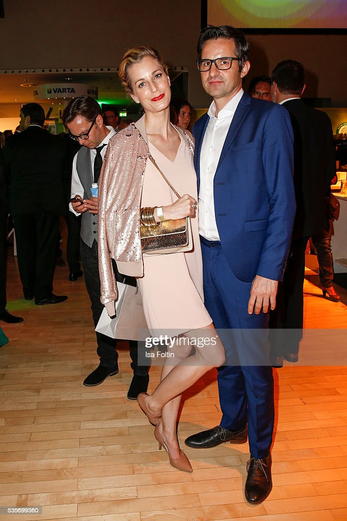 German actress Tina Bordhin and Michael Jacob during the Green Tec Award After Show Party at ICM Munich on May 29, 2016 in Munich, Germany.