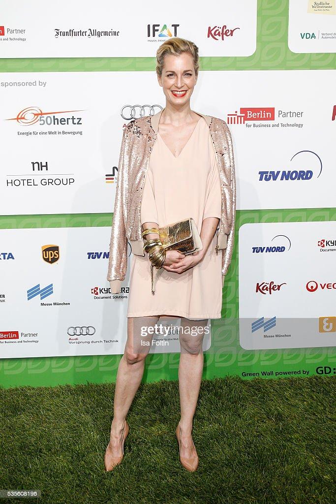 German actress Tina Bordihn attends the Green Tec Award at ICM Munich on May 29, 2016 in Munich, Germany.