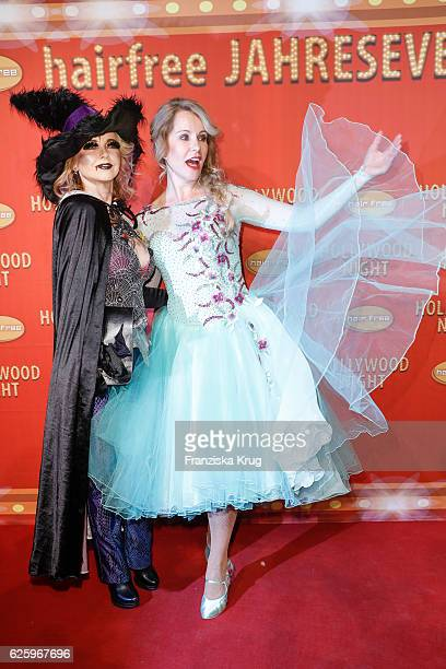German actress Tina Ruland and german moderator Katja Burkard attend the Hollywood Superhero Fairytale Night hosted by Jens Hilbert on November 26...