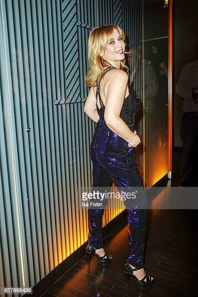 German actress Tina Ruland attends the 1st Anniversary Celebration Of Berlin Blonds on December 5 2016 in Berlin Germany