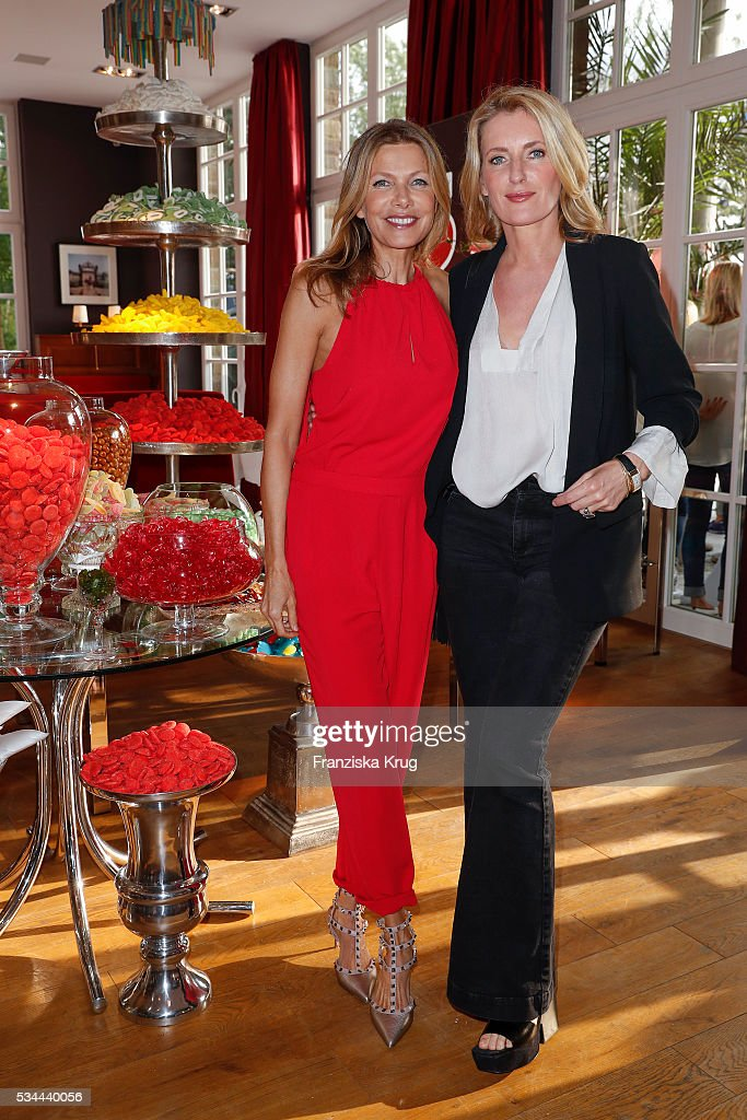 German actress Ursula Karven and german actress Maria Furtwaengler during the 'Ein Herz fuer Kinder' summer party at Wannseeterrassen on May 26, 2016 in Berlin, Germany.