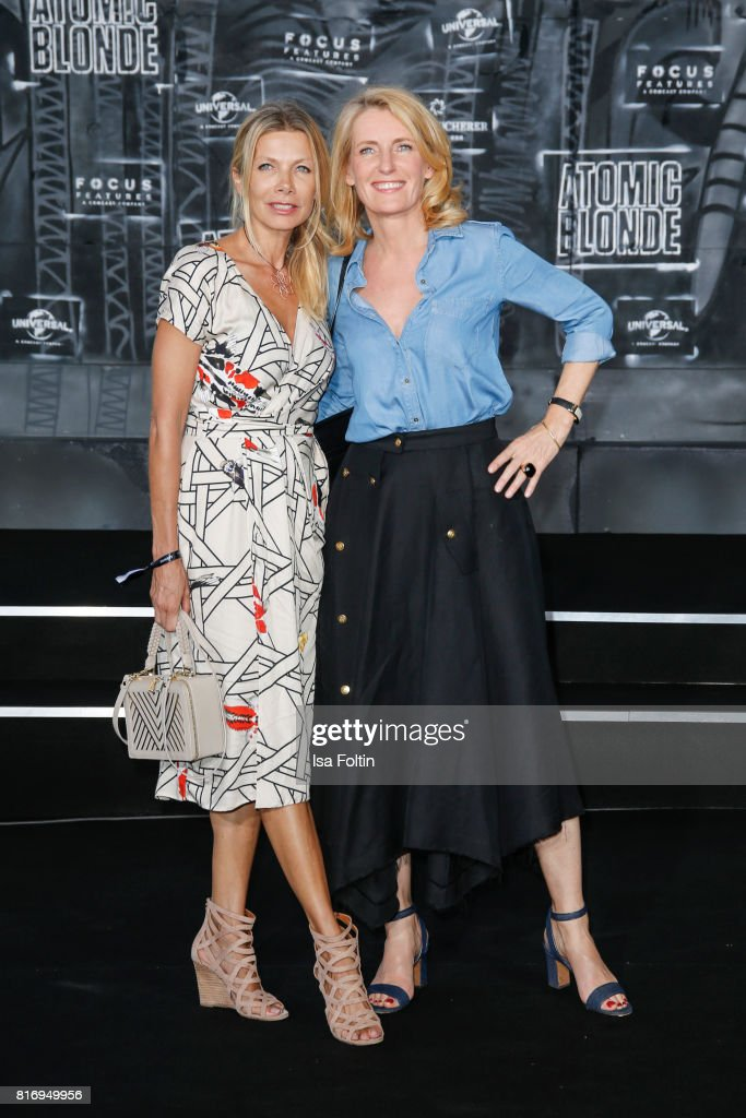 German actress Ursula Karven and German actress Maria Furtwaengler attend the 'Atomic Blonde' World Premiere at Stage Theater on July 17, 2017 in Berlin, Germany.