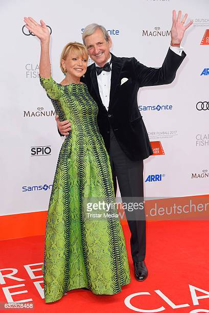 German actress Uschi Glas and her husband Dieter Hermann attend the German Film Ball 2017 at Hotel Bayerischer Hof on January 21 2017 in Munich...
