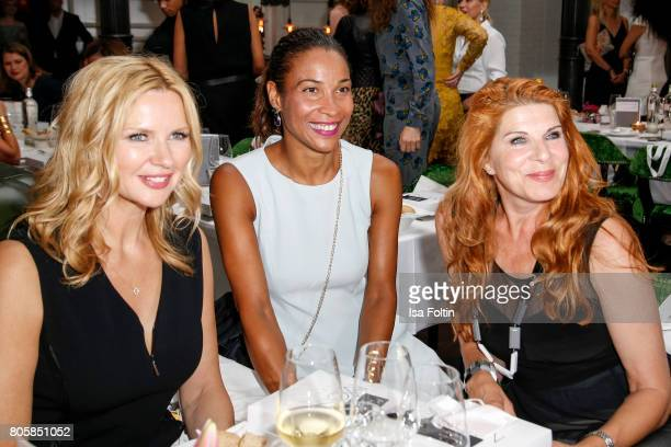 German actress Veronica Ferres German presenter Annabelle Mandeng and German actress Claudia Wenzel during the host of Annabelle Mandengs Ladies...