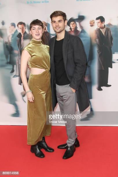 German actress Victoria Schulz and German actor Lucas Reiber attend the 'Die Unsichtbaren' Premiere at Kino International on October 10 2017 in...