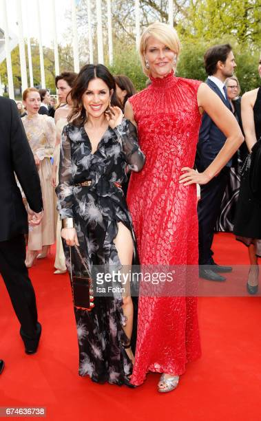 German actress Viktoria Lauterbach and Natascha Gruen during the Lola German Film Award red carpet arrivals at Messe Berlin on April 28 2017 in...