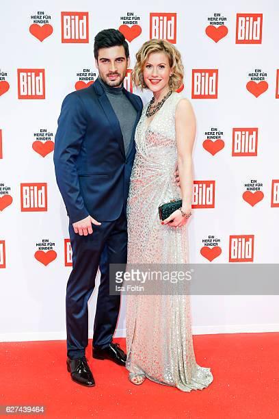 German actress Wolke Hegenbarth and her boyfriend Oliver attend the Ein Herz Fuer Kinder gala on December 3 2016 in Berlin Germany