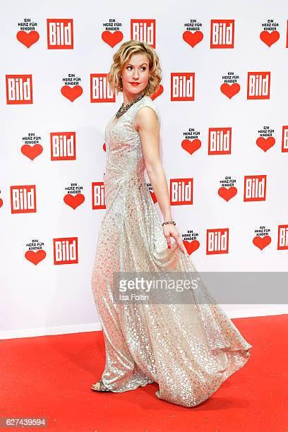 German actress Wolke Hegenbarth attends the Ein Herz Fuer Kinder gala on December 3 2016 in Berlin Germany