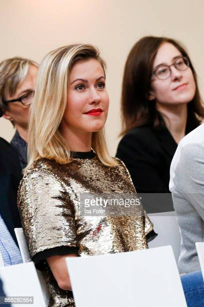 German actress Wolke Hegenbarth during the Ulrich Wickert Award For Children's Rights at Stadtbad Oderberger on September 28 2017 in Berlin Germany