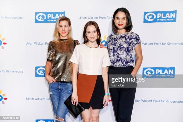 German actress Wolke Hegenbarth German actress Emilia Schuele and German news anchor Charlotte Maihoff attend the Ulrich Wickert Award For Children's...
