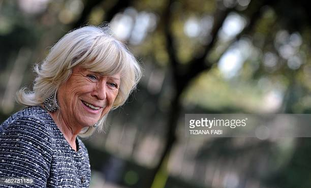 German actress writer and film director director Margarethe von Trotta poses during the photocall of the movie ''Hannah Arendt'' in Rome on January...