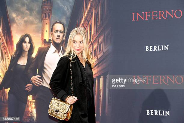German actress Xenia Seeberg attends the German premiere of the film 'INFERNO' at Sony Centre on October 10 2016 in Berlin Germany