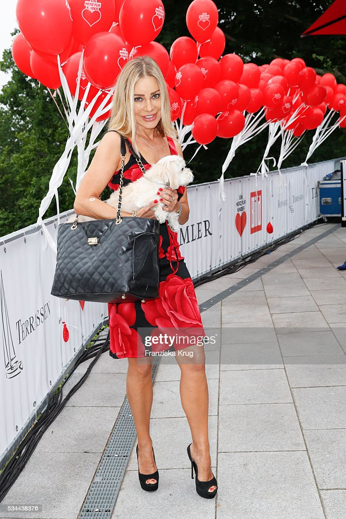 German actress Xenia Seeberg during the 'Ein Herz fuer Kinder' summer party at Wannseeterrassen on May 26, 2016 in Berlin, Germany.