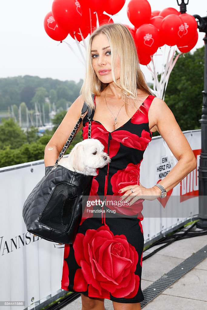 German actress <a gi-track='captionPersonalityLinkClicked' href=/galleries/search?phrase=Xenia+Seeberg&family=editorial&specificpeople=2641773 ng-click='$event.stopPropagation()'>Xenia Seeberg</a> during the 'Ein Herz fuer Kinder' summer party at Wannseeterrassen on May 26, 2016 in Berlin, Germany.