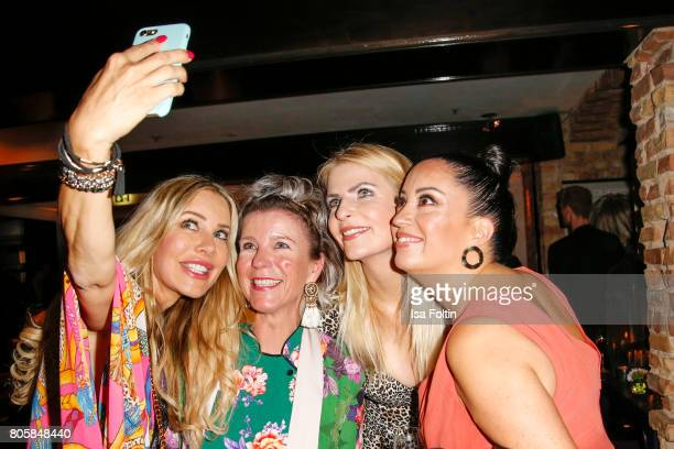 German actress Xenia Seeberg Leonie Bechtoldt German Presenter Tanja Buelter and Miyabi Kawai during the host of Annabelle Mandengs Ladies Dinner at...