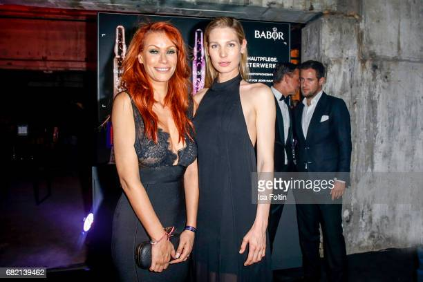 German actress Yasmina Filali and Model Sarah Brandner attend the Duftstars at Kraftwerk Mitte on May 11 2017 in Berlin Germany