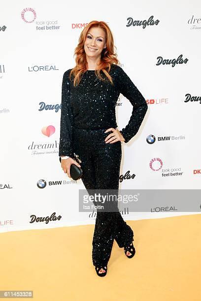 German actress Yasmina Filali attends the Dreamball 2016 at Ritz Carlton on September 29 2016 in Berlin Germany