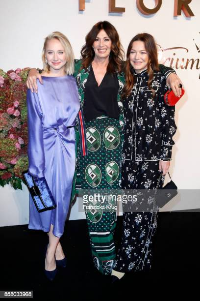 German actresses Anna Maria Muehe Iris Berben and Hannah Herzsprung in in Erdem x HM attend the Florale By Triumph Dinner Hosted By Julianne Moore at...