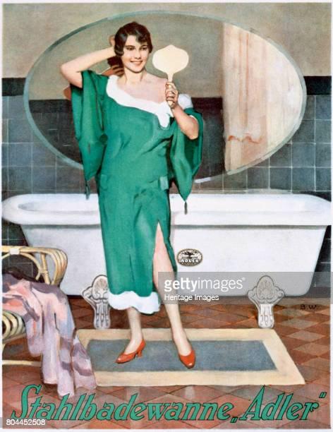 German advertisement for 'Adler' steel bathtubs 20th century Artist Unknown