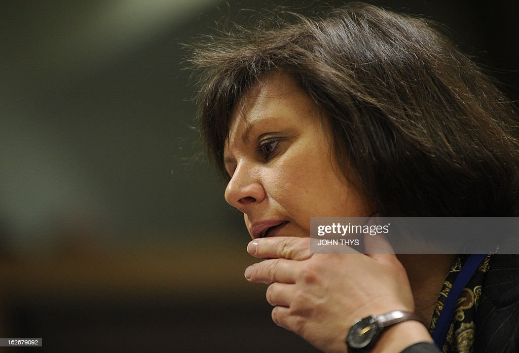 German Agriculture Minister Ilse Aigner attends an Agriculture and Fisheries Council meeting at the EU Headquarters in Brussels on February 26, 2013.