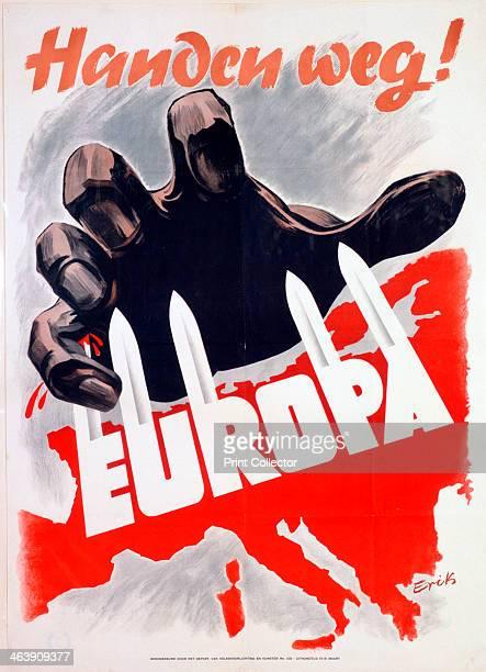 German anticommunist propaganda poster c1939c1945