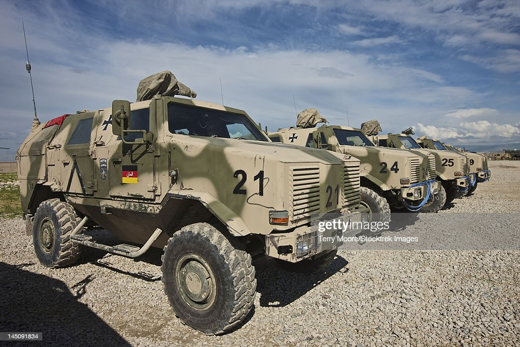 German Army ATF Dingo armored vehicles.