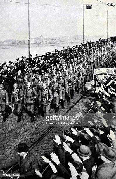 German army enters the Rhineland to salutes from civilians The remilitarization of the Rhineland by the German Army took place on 7 March 1936 when...