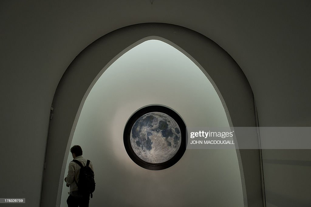 German artist Antje Majewski's 'Vollmond' (Full Moon) is on display at the Patrick Ebensperger Gallery, located in a former crematorium complex in Berlin's Wedding district, Germany on August 29, 2013. Built in 1912, the crematorium, now a protected landmark, was the first of its kind in what was then Prussia. The complex is expected to attract other galleries and art institutions.