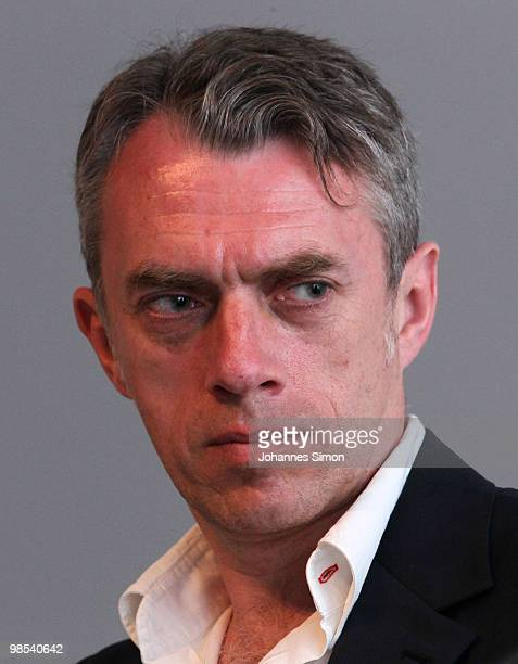 German artist Neo Rauch looks on during a press conference at Pinakothek der Moderne art museum on April 19 2010 in Munich Germany Due to his 50th...