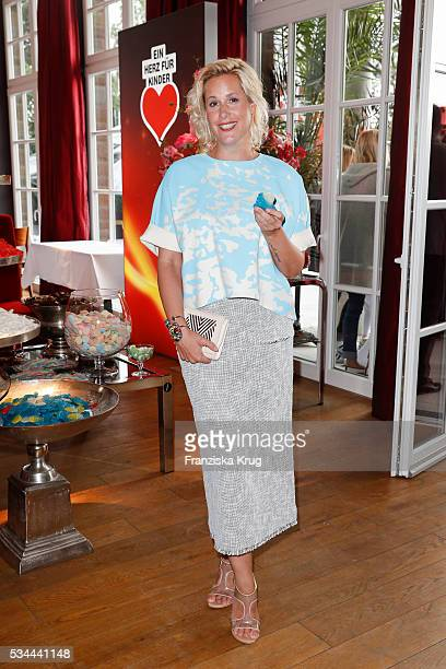 German author Anika Decker during the 'Ein Herz fuer Kinder' summer party at Wannseeterrassen on May 26 2016 in Berlin Germany