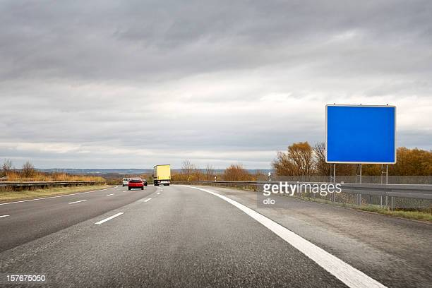 Tedesca Autobahn, vuoto Cartello stradale-spazio di copia