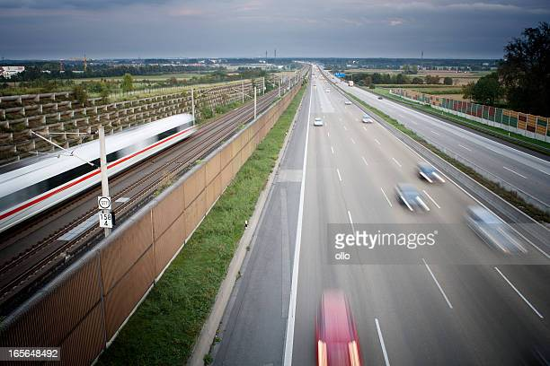 German autobahn - view from a bridge