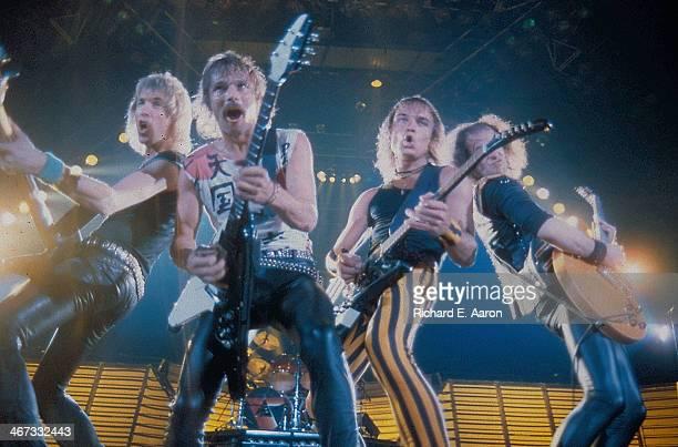 German band Scorpions on stage circa 1985