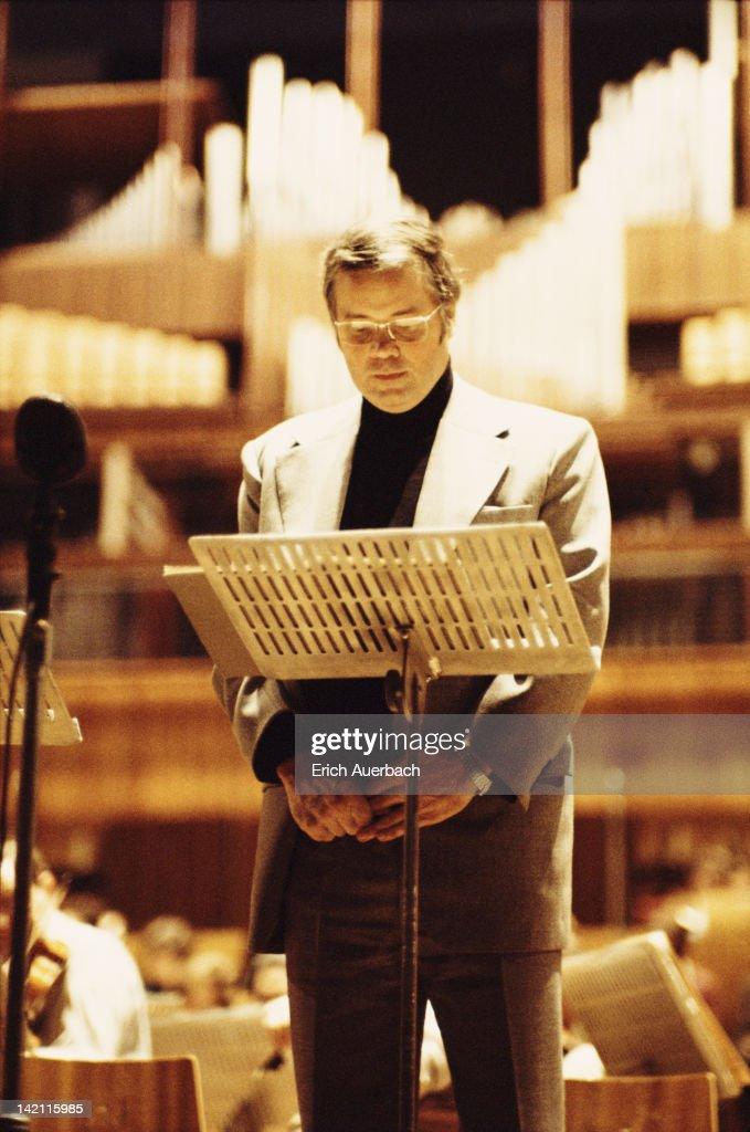 German baritone and conductor Dietrich Fischer-Dieskau, circa 1972.