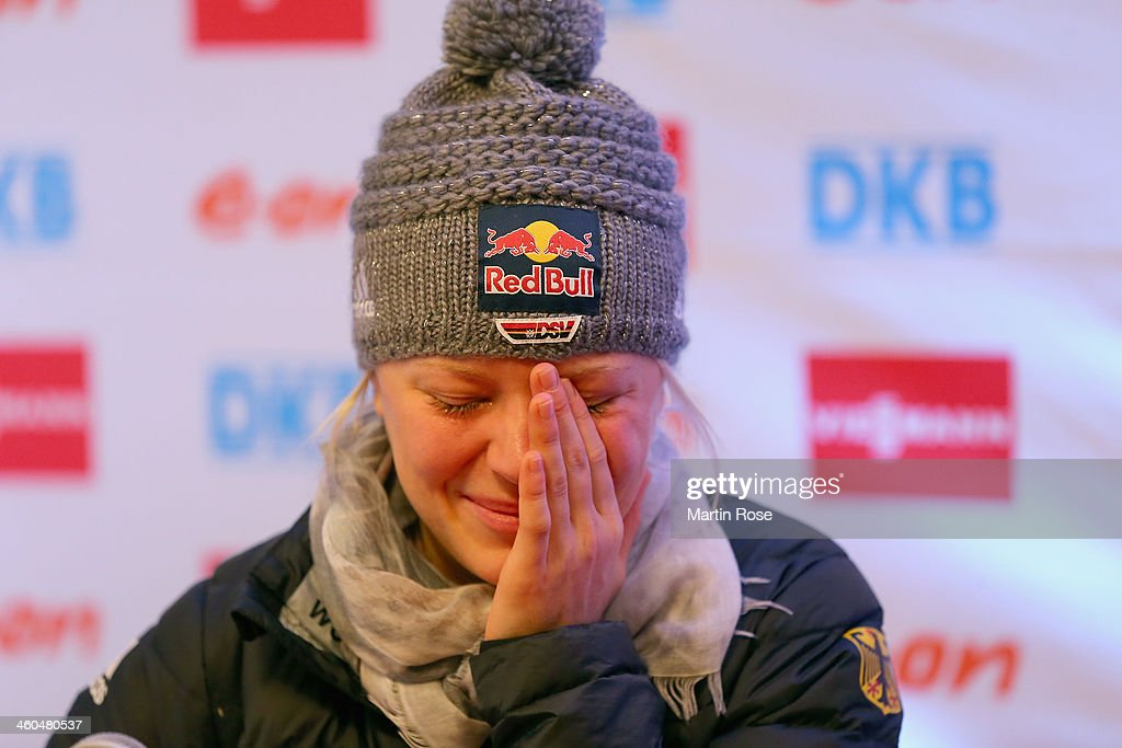 German Biathlet Miriam Goessner announces she will not be competing in the Sochi 2014 Winter Olympic Games due to an injury on January 4, 2014 in Oberhof, Germany.