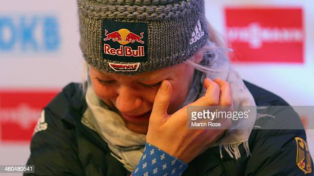 German Biathlet Miriam Goessner announces she will not be competing in the Sochi 2014 Winter Olympic Games due to an injury on January 4 2014 in...