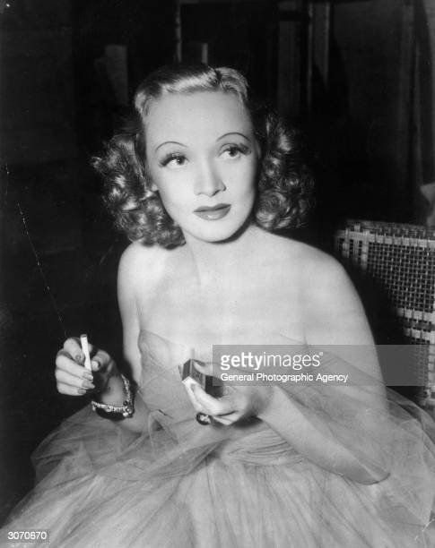 German born actress and singer Marlene Dietrich branded a traitor by 'Der Stuermer' because she became American