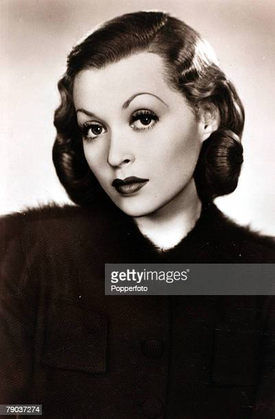 Cinema Personalities circa 1940 German born actress Lilli Palmer portrait who had a long film career over many decades with the Hitchcock film of...