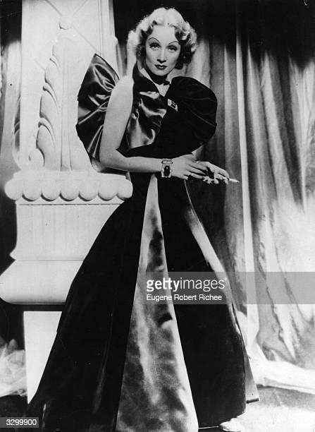 German born American film actress and cabaret star Marlene Dietrich in the 'Devil is a Woman' Costume design by Travis Banton