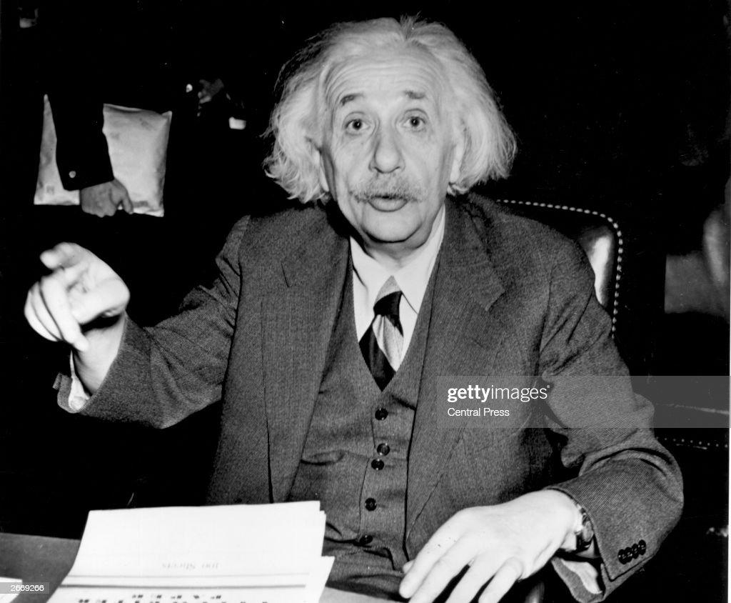 German born American physicist Albert Einstein (1879 - 1955), 1946.