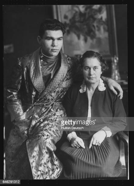 German Boxer Max Schmeling With His Mother ca 1935