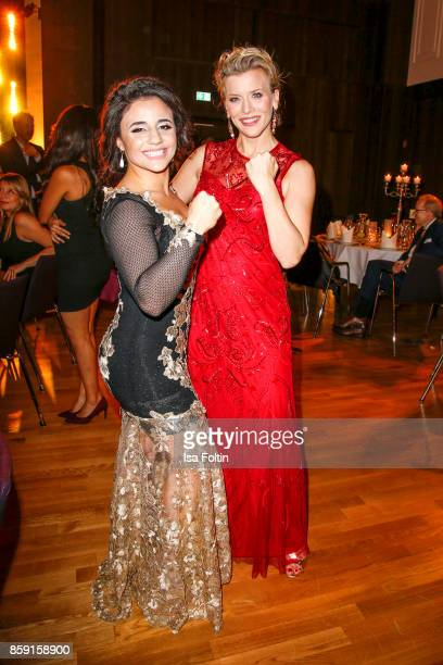 German boxer Susi Kentikian and German actress Eva Habermann attend the German Boxing Awards 2017 on October 8 2017 in Hamburg Germany