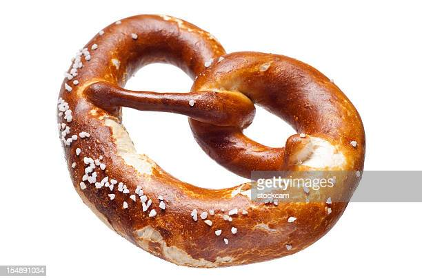 German bread pretzel on a white background