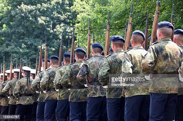 German Bundeswehr parading