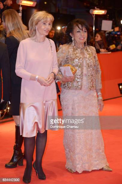 German business woman Regine Sixt and Claudia Huebner attend the 'Django' premiere during the 67th Berlinale International Film Festival Berlin at...